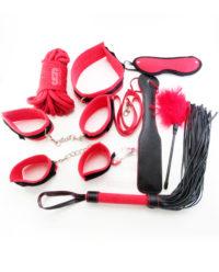 Набор БДСМ красно-чёрный 10 предметов
