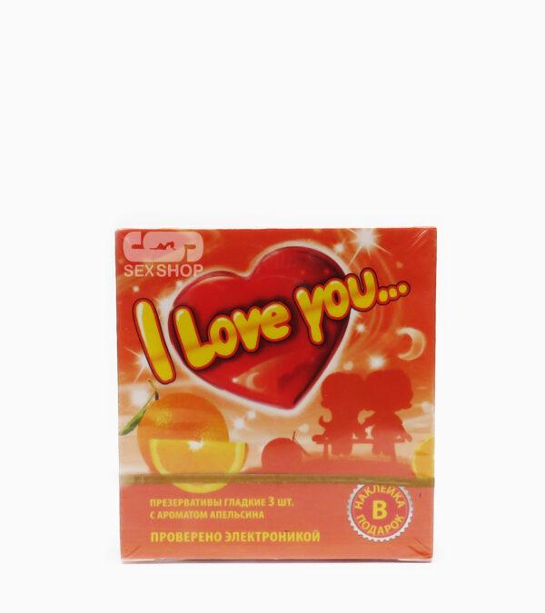 Презервативы гладкие I love U