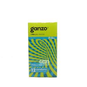 Презервативы Ganzo Ribs ребристые с согревающей смазкой 12 шт Артикул 609