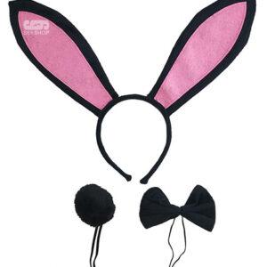 Набор Кролик Плейбой ушки+хвост+бабочка